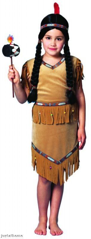 Costumes! Pocahontas Native American Indian Girl Costume Dress 2p Toddler 2-4