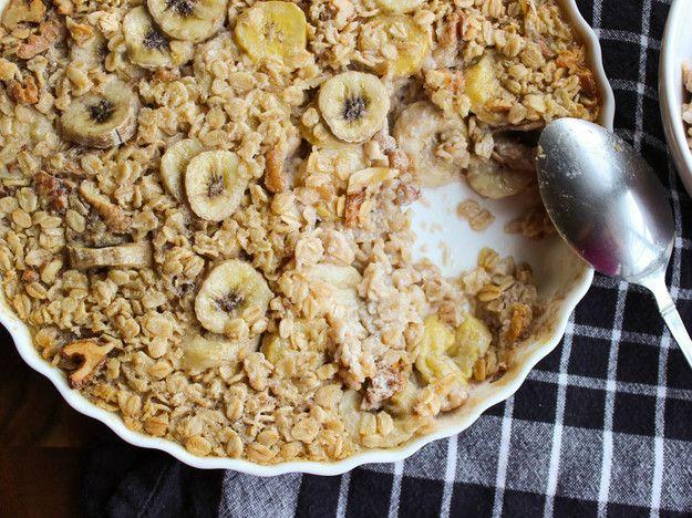 Maple-Banana Baked Oatmeal
