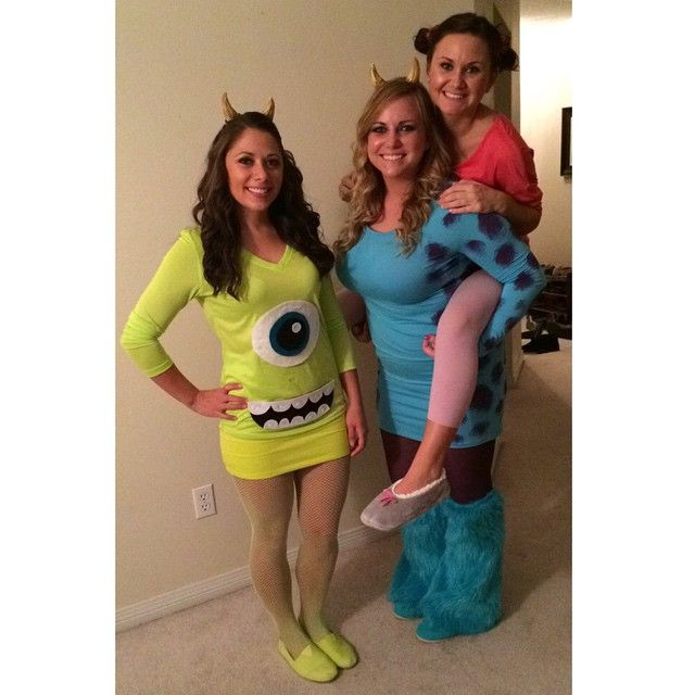 #monstersinc #mike, #sully, and #boo . #halloween #2014 #cute #monsters #original #costume #creative