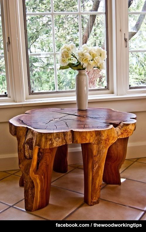 Tree Trunk Table  This Is An Incredible Idea.