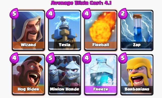 mejor mazo clash royale arena 6
