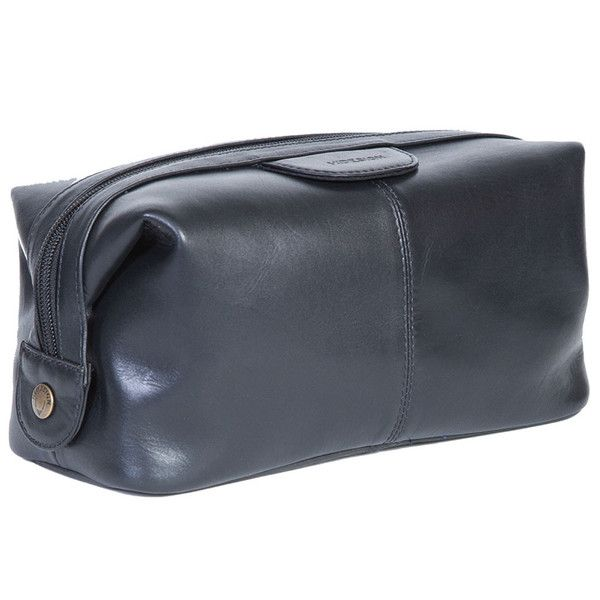 Hidesign Vegetable-Tanned Black Calf Leather Dopp Kit | Inspired by the original government-issued shave kits that American soldiers carried in World War II, this simple yet elegant dopp kit will keep you shaved, shined and smelling great no matter what you're up against. The luxurious leather has been tanned using a time-honored and environmentally friendly process that leverages natural tannins rather than harsh chemicals. #ShopifyPicks