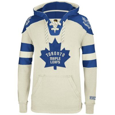 Reebok Toronto Maple Leafs CCM Pullover Hoodie - Natural