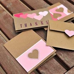 Paint Chip Thank You Cards