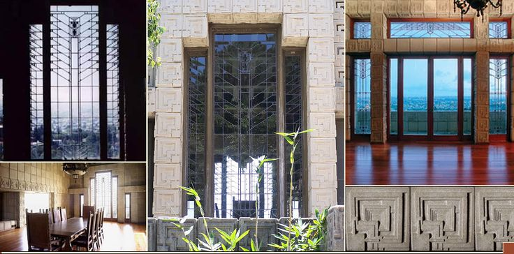 Frank Lloyd Wright: Ennis House: Deckard's apartment based on this.