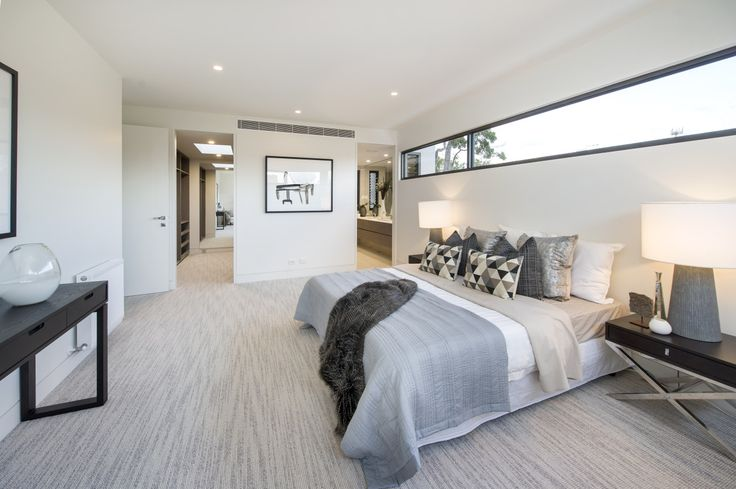 Cavalier Bremworth carpet Kennedy Point in Picnic Bay in this stunning bedroom by Virgon Property Group and Kate Walker Design