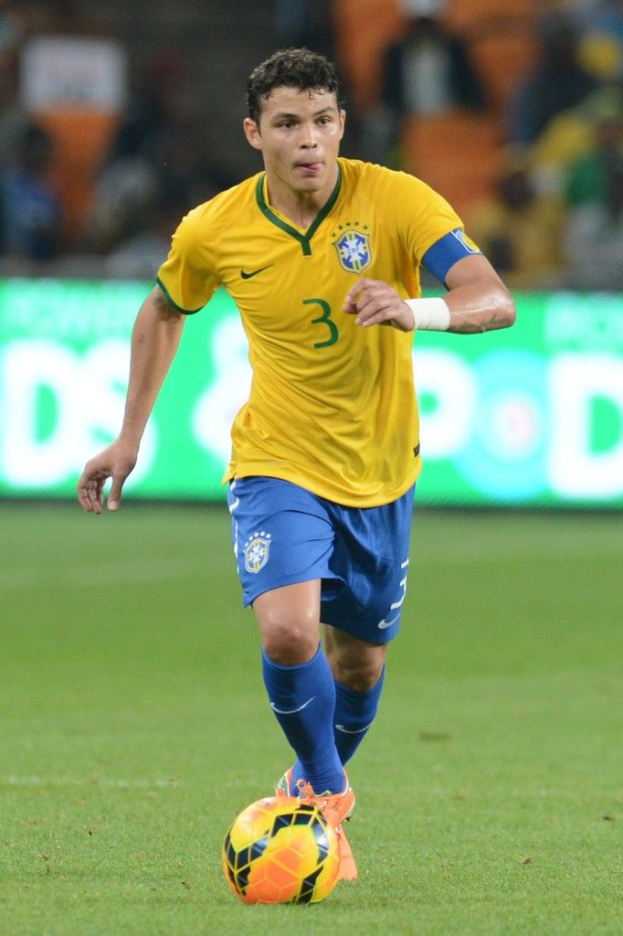 Thiago Silva in action during the International Friendly match between South Africa and Brazil at FNB Stadium on March 5, 2014 in Johannesburg, South Africa.