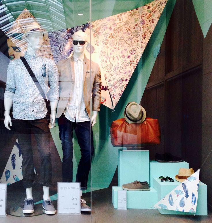 Debenhams visual merchandising men's window display