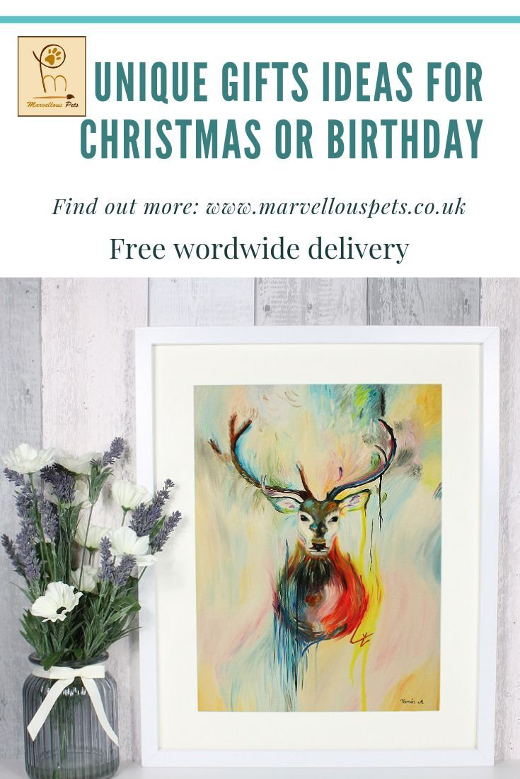 Custom Oil Painting Stag Painting Deer Decor Christmas Gift Cute Gift For Friend Textured Painting Original Art Deer Art Oil Wall Art Custom Oil Painting Cute Gifts For Friends Cute Paintings