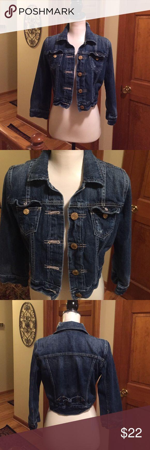 SUPER CUTE & TRENDY American Eagle denim jacket American Eagle denim jacket - stressed prewashed look - SUPER CUTE & TRENDY! American Eagle Jackets & Coats Jean Jackets