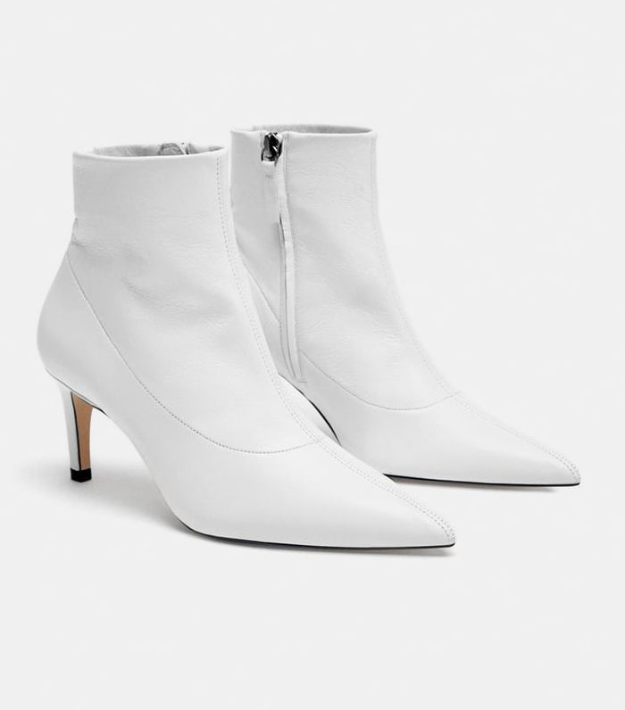 Zara boots, Boots, White ankle boots
