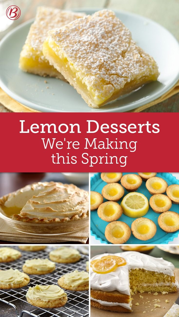 Ever wondered what our editors are baking this spring? We'll give you one answer: lemon treats! These citrusy sweets are so bright and fresh they almost taste like spring sunshine.