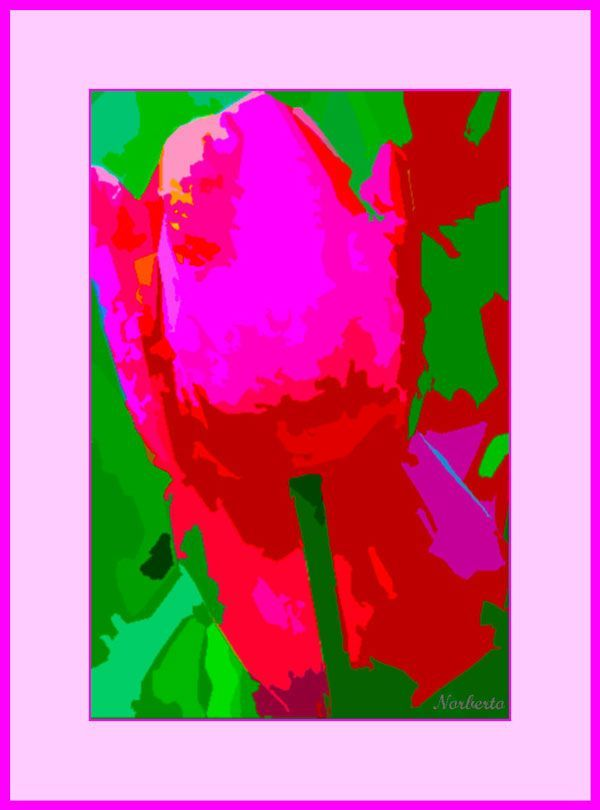 Cuadro abstracto colorido titulado, Rosa rojo sobre fondo verde. Painting, Art, Abstract Paintings, Green Backgrounds, Red, Art Background, Painting Art, Kunst, Paintings