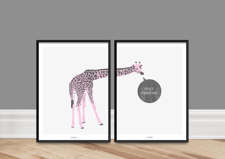 Kunstdruck+Doppel-Poster+/+Curious+von+typealive+auf+DaWanda.com
