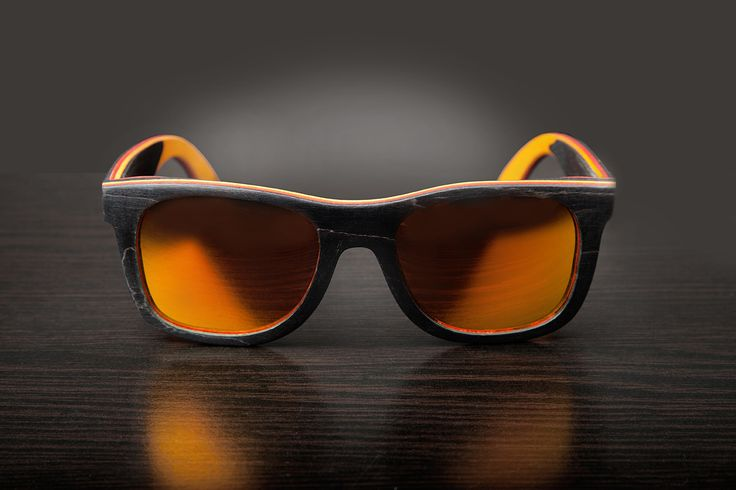 Black Bamboo Sunglasses - Polarized Lenses - 100% UV Filter - Category 3 - Bamboo Case and Protective Bag