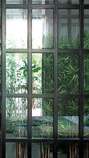 steel and mirror doors