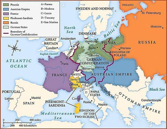 "The Concert of Europe was formulated in 1815 as a mechanism to enforce the decisions of the Congress of Vienna. Composed of the Quadruple Alliance: Russia, Prussia, Austria, and Great Britain, its main priorities were to establish a balance of power, thereby preserving the territorial status quo, and to protect ""legitimate"" governments. Headed by Prince Metternich, the Concert of Europe was one of the first serious attempts in modern times to establish a society to maintain the peace."
