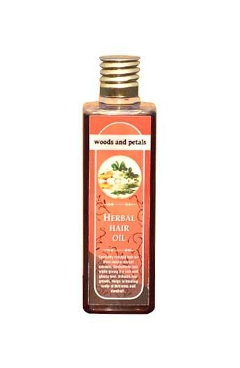 Specially created hair oil from natural, herbal extracts. Promotes hair growth, nourishes the scalp.  This authentic blend of sesame oil and almond oil with various exotic indian herbs like jatamansi (musk root), ratanjot (alkanet),bringraj (false daisy) , amla (wild gooseberry) and shikakai (soap nut), neem have known to promote lustrous healthy locks since time immemorial. Get long and shiny hairs, Shop For Woods & Petals Herbal Hair Oil only at pharmacyonnet.com #herbalhairoil…