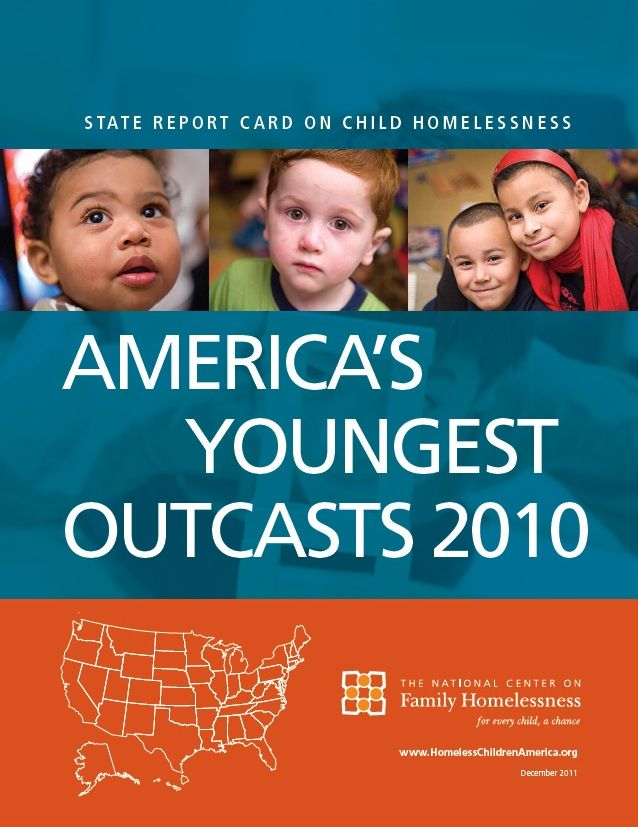 How does your state rate? Find out about the number of homeless children in your state, and how your state ranks on policies to address the issue. Report by the National Center on Family Homelessness.