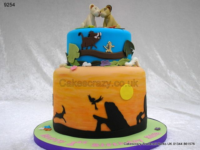 Pumba Cake: Lion King Simba Nala Cake Http://www.cakescrazy.co.uk