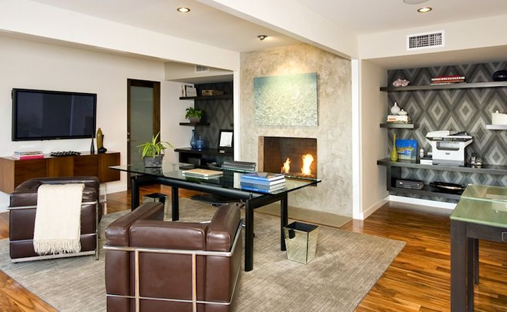 Jeff Lewis Office with Fireplace