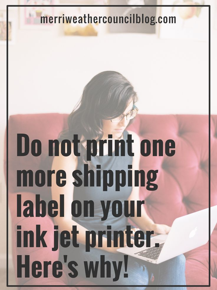 Don't do it! Here's a way better method to getting your shipping label needs accomplished in your handmade business | Merriweather Council
