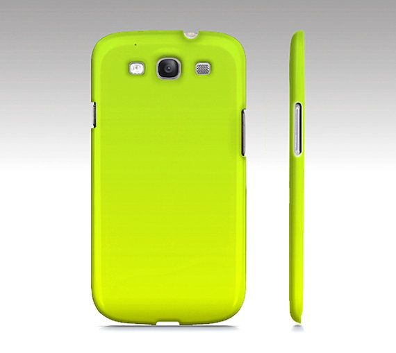 Lime Green Ombre  Premium Slim Fit Galaxy S3 Case by SuprCases, $29.95