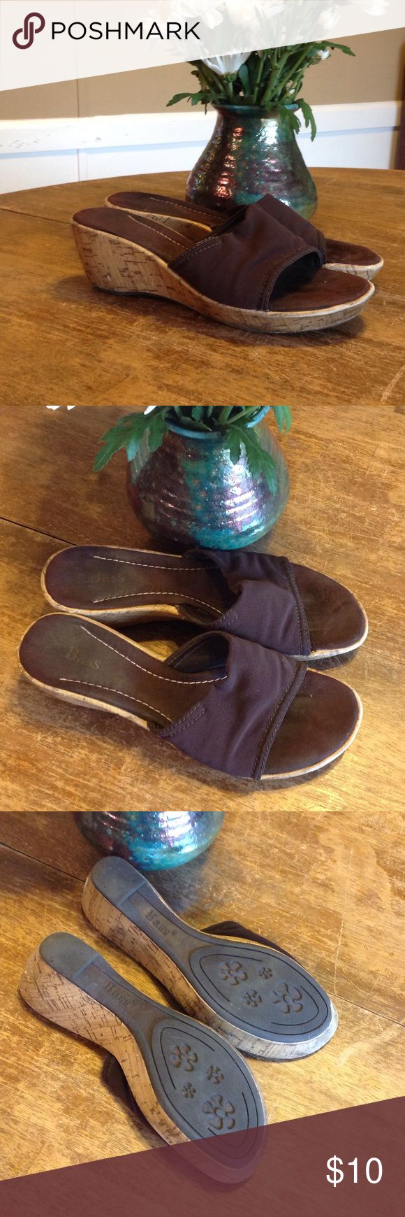 Bass Slip On Wedges Bass. Slip On Wedges. Chocolate Brown. Great Condition. Bass Shoes Wedges