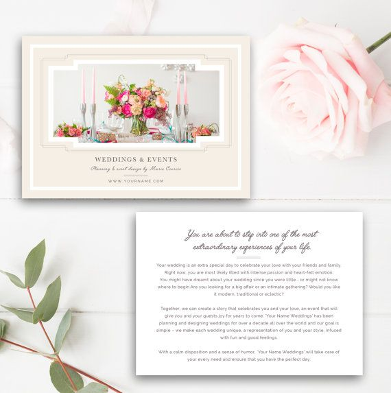 Wedding Planner Marketing Flyer Template - Event Planning - events planning template