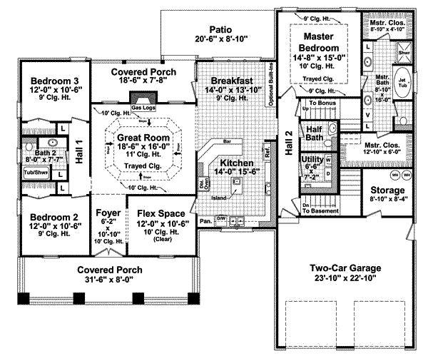 69 best House plans images on Pinterest House floor plans - best of blueprint detail crossword clue