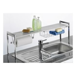 buy over sink kitchen tidy shelf with kitchen roll holder. Black Bedroom Furniture Sets. Home Design Ideas
