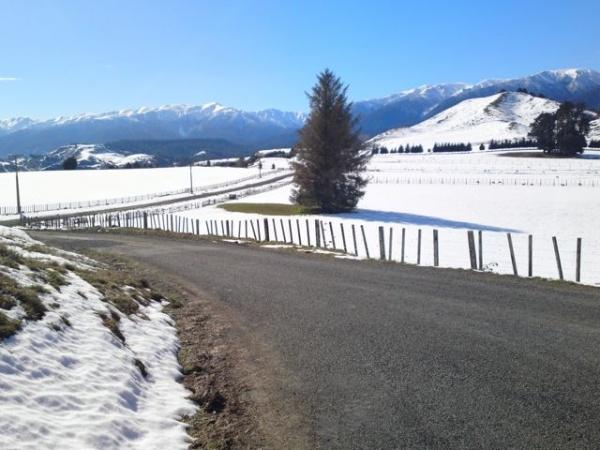 Beautiful #snow blanketed scenery in northern #Manawatu, #NZ