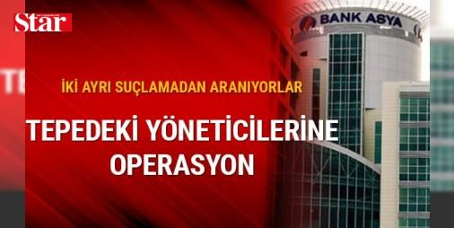 Bank Asya yöneticilerine operasyon düzenlendi: İstanbul'da Fetullahçı Terör Örgütü'nün bankası Bank Asya'nın 2014 yılı ve sonrası üst düzey yöneticilerine ilişkin operasyon düzenlendi.   İKİ AYRI SUÇLAMA   İstanbul Anadolu Cumhuriyet Başsavcısı Fehmi Tosun'un talimatı üzerine harekete geçen Anadolu Cumhuriyet Savcısı Alim Yaşar, İstanbul Mali Suçlarla Mücadele Şube Müdürlüğü ekiplerine Bank Asya'nın 2014 yılı ve sonrasında çalışan üst düzey yöneticileri hakkında 'FETÖ üyeliği' ve 'örgüte…