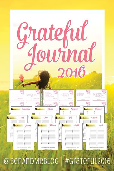 Grateful Journal 2016 --  PDF download with monthly journal pages and Scripture memory cards -- FREE for subscribers.