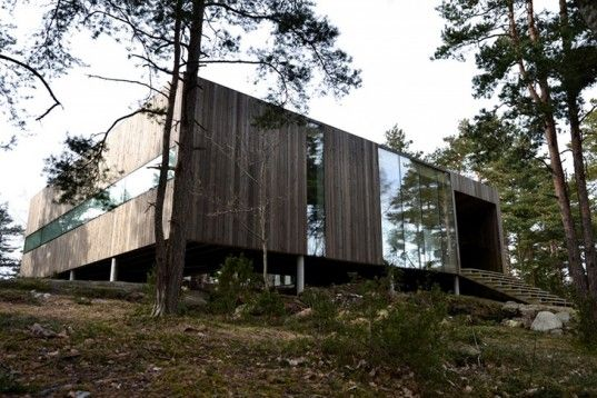 Beautiful Wooden Home in Norway Is Built Around Forest Trees | Inhabitat…