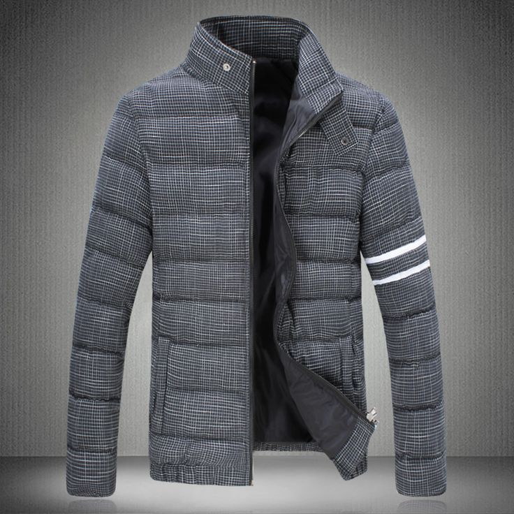 2017 winter parka men Down Jacket Grid electricity supplier A090 MY78p105 yards thick padded coat male tide male coat short sect