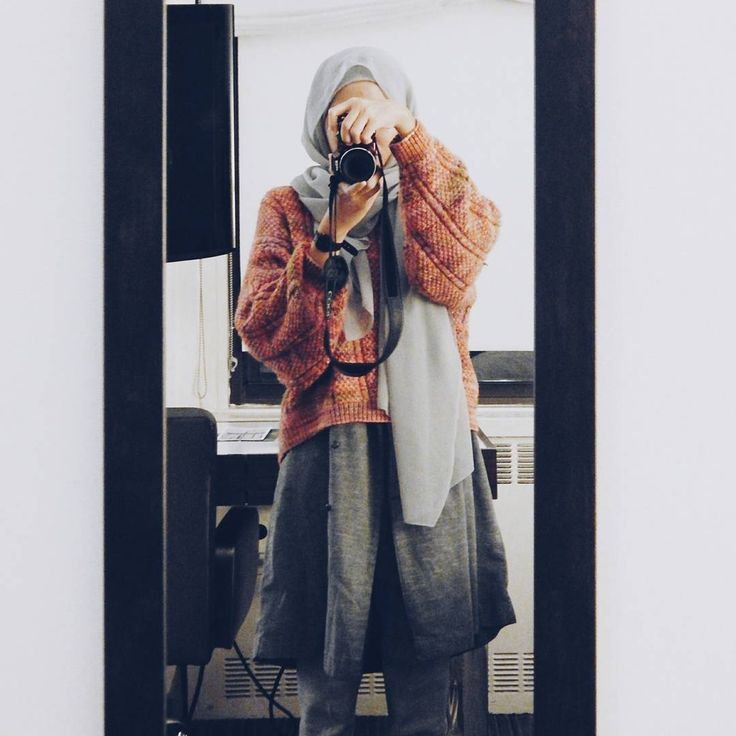Hijab winter outfit / style inspiration: an oversized sweater