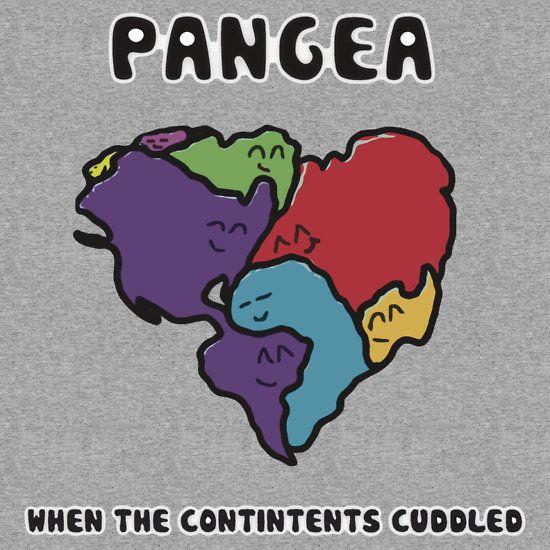 pangea. geology. t-shirt.