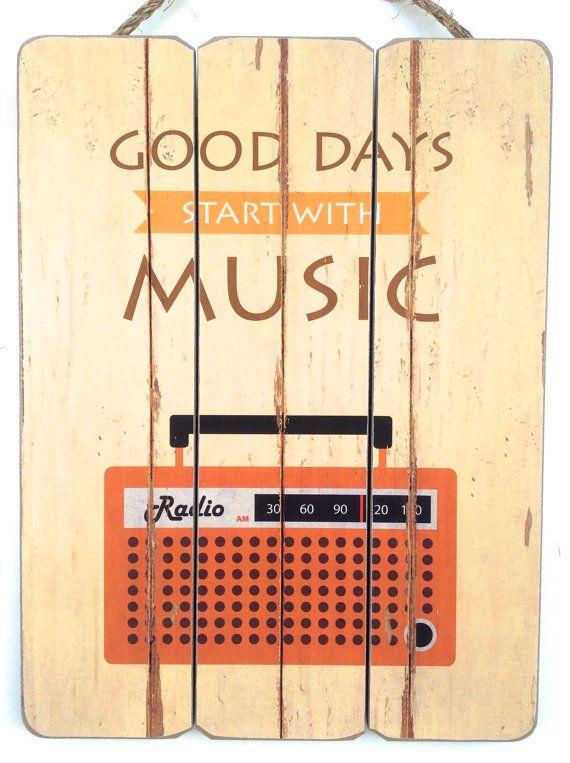 Musik Raum Dekor Musik Kunst Musik-Dekor Holz von honeywoodhome