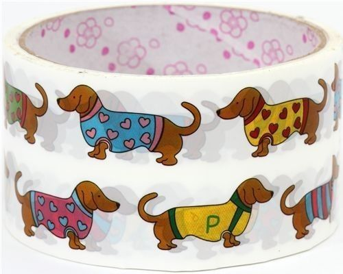 OMG.: Dachshund Dogs, Dogs Accessories, Weenie Dogs, Dogs Home Decor, Dogs Tape, Weiner Dogs, Wiener Dogs, Washi Tape, Sausages Dogs