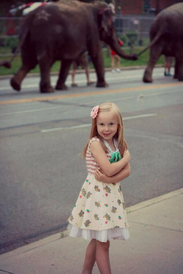 If you are wearing a PiNk tomaTiNa elephant dress you will probably catch an elephant on parade - PiNk tomaTiNa little girl dresses