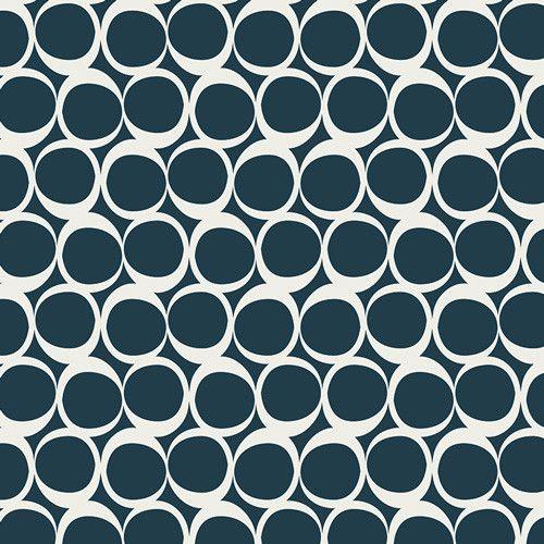 Stoff grafische Muster - Jersey Art Gallery Round Elements Kreise blau - ein Designerstück von Naehhimmel bei DaWanda