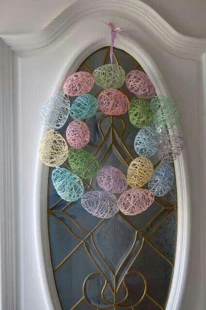 Easter egg wreath Shared on Facebook craftgossip.com