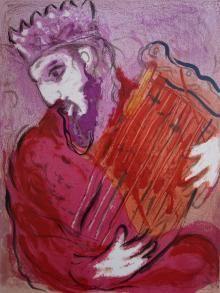 David à la Harpe, La Bible, 1956, Marc Chagall  - Irma Bianchi Comunicazione
