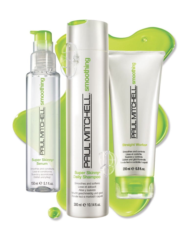 Paul Mitchell Smoothing  Sleek is chic. Get the skinny on smooth, shiny, silky hair with Paul Mitchell® Smoothing, featuring the Super Skinny® Complex to slim down locks and reduce drying time.