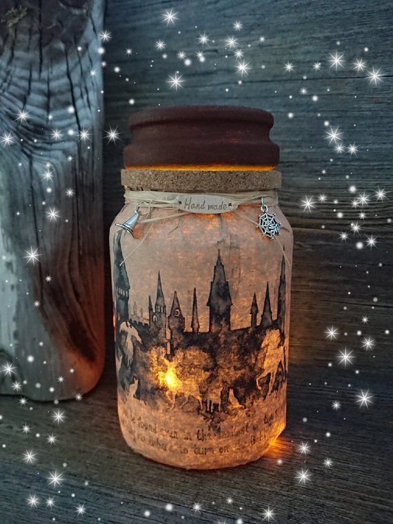 Potter light up jar/ night light – Happiness can be found
