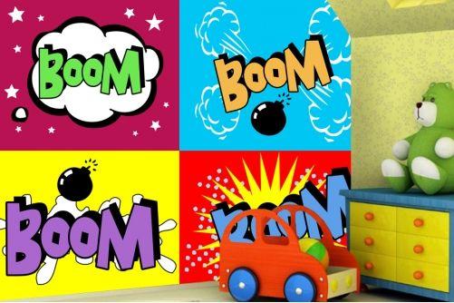 Comic Explosions Wallpaper