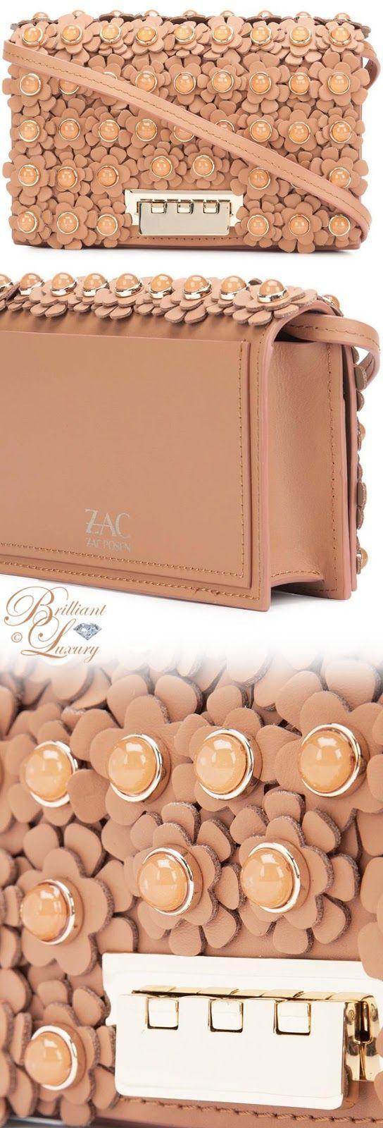 Brilliant Luxury by Emmy DE ♦ Zac Zac Posen Flower Embellished Crossbody Bag