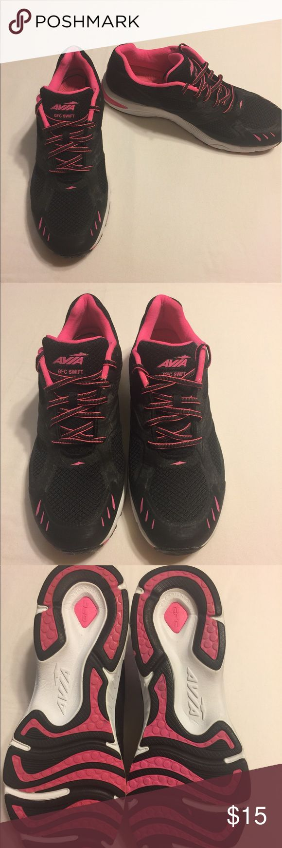 Size 9 Avia GFC Swift Women's sneakers/shoes Size 9 Avia GFC Swift Women's Sneakers, black and pink, preloved but New like condition, only worn once Avia Shoes Athletic Shoes