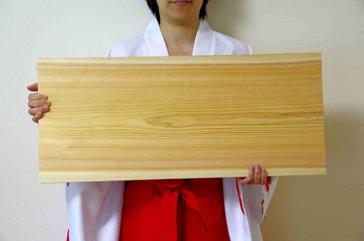 大きいサイズのひのきまな板。